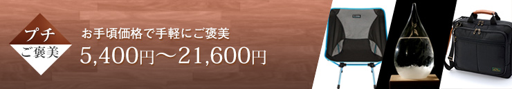 プチご褒美 お手頃価格で手軽にご褒美 10,800円~21,600円