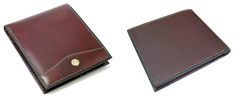 2b541e348254 「オックスフォード二つ折り財布(小銭入れなし)」はシリーズ中、最も薄型の財布。左右にある内ポケットは免許証などを入れるのに便利です。2つの札入れと8つのカード  ...