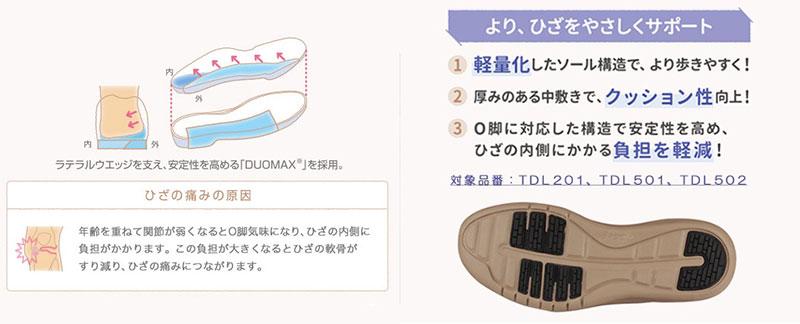アシックスジャパン ライフウォーカー ひざにやさしい靴 ニーサポート