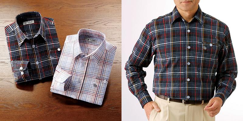 フレンドリー トロイブロス 格子柄サッカーシャツ2色組