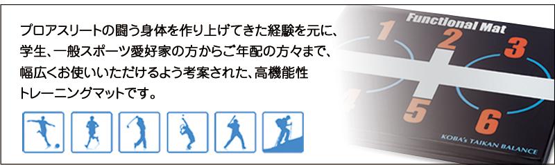 高機能性トレーニングマット KOBAファンクショナルマット