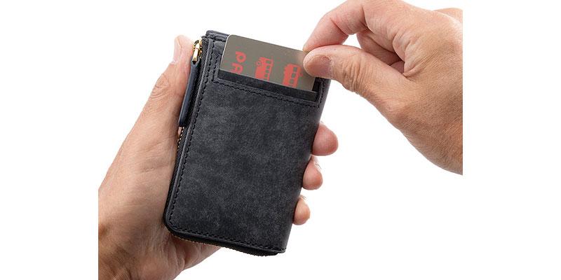 外ポケットもICカード収納に便利