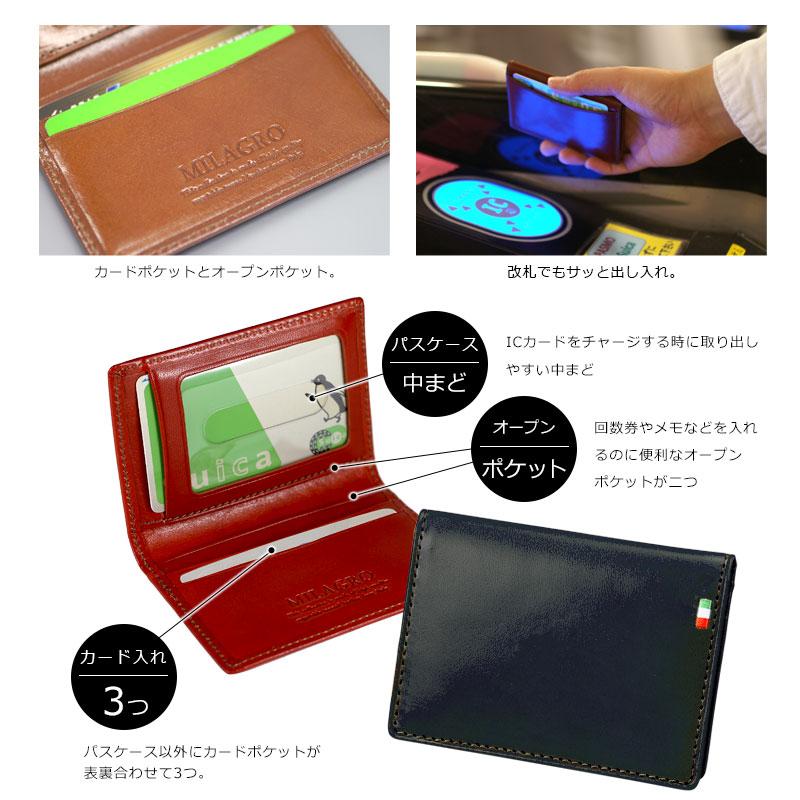パスケース以外にカードポケットが表裏合わせて3つ。