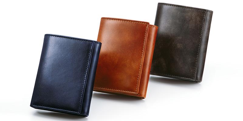 グレンフィールド スノビスト ミュージアムカーフ三つ折り財布
