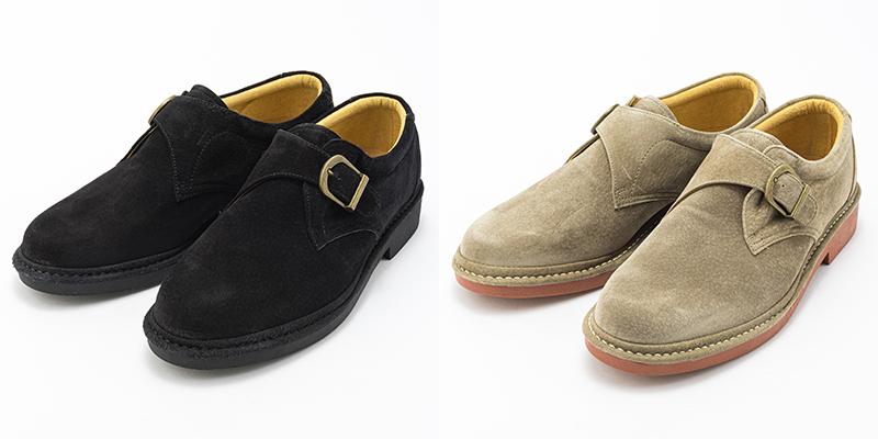 まるでウォーキングシューズのような履き心地が特徴の金谷製靴のシューズ。