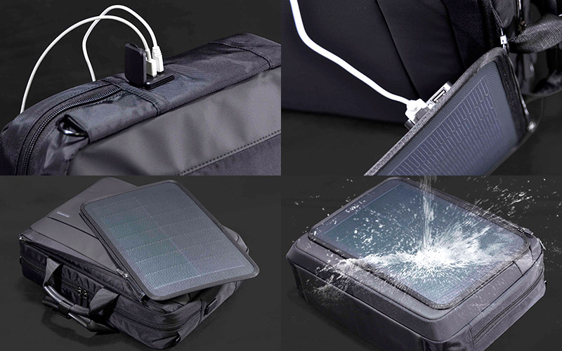 エンドー鞄 ネオプロ ソーラードライブ リュック ブラック 2-861BK