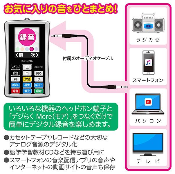 クマザキエイム ベアマックス ポータブル・デジタル・プレーヤー デジらく モア DPR-726