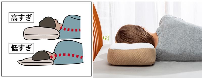 ガマカ工業 日本製 消臭炭わた入り横向き楽寝枕2