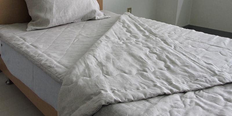 滋賀麻工業 日本製 洗えるリネンヘンプ 肌掛け布団