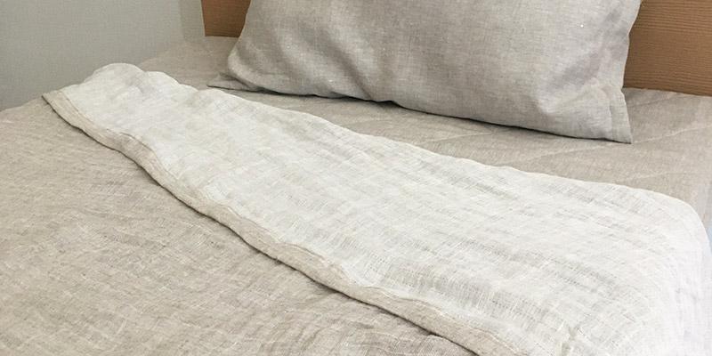 滋賀麻工業 日本製 洗えるリネンヘンプ ダブルガーゼケット