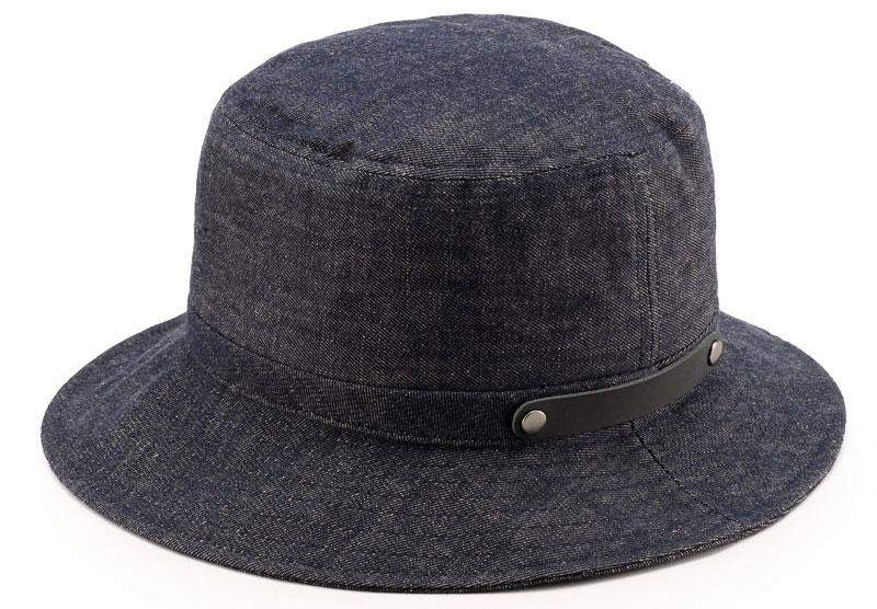 ビスポーク 井上帽子 越後片貝木綿 デニムハット