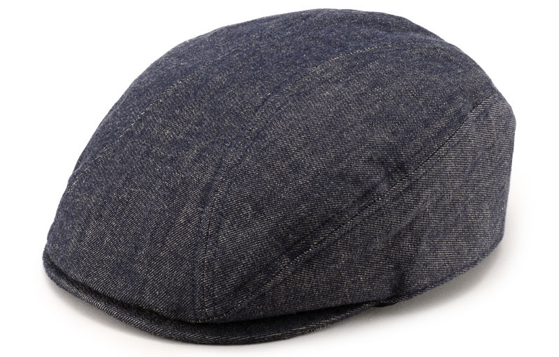 ビスポーク 井上帽子 越後片貝木綿 デニムハンチング