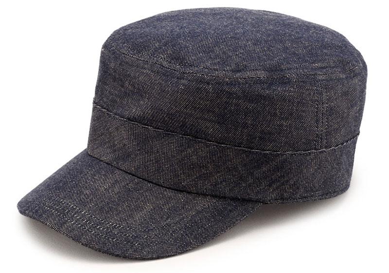 ビスポーク 井上帽子 越後片貝木綿 デニムワークキャップ