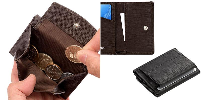 ビスポーク ミラグロ サフィアーノレザー 3つ折り財布