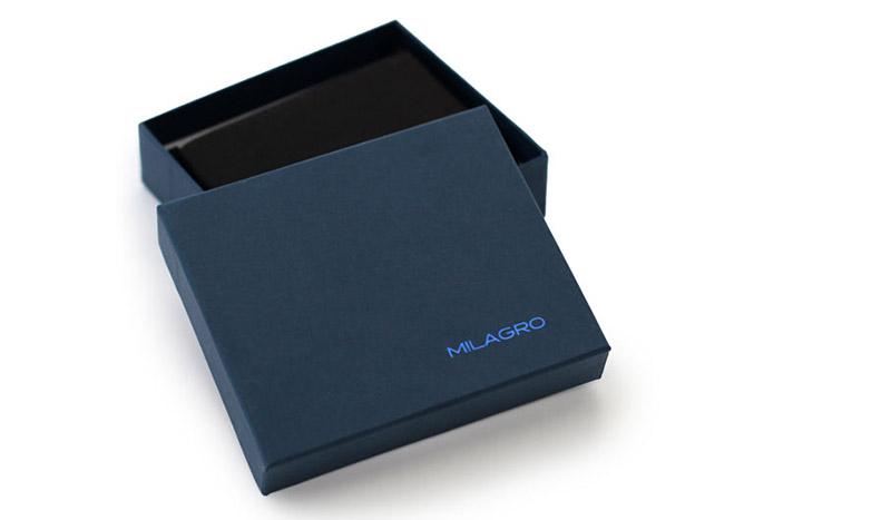 ビスポーク ミラグロ サフィアーノレザー ボックスコインケース