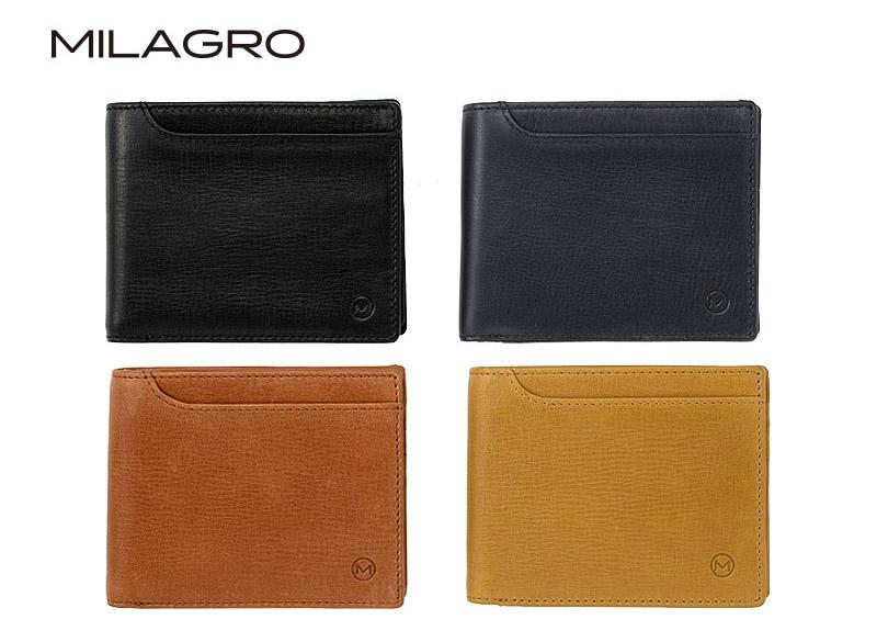 ビスポーク ミラグロ オイルプルアップレザー ベラ付き2つ折り財布