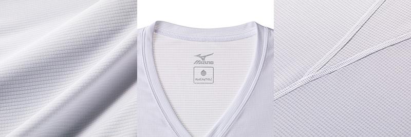 ミズノ ハイドロ銀チタン Vネックノースリーブシャツ