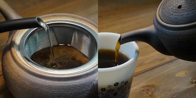 一心窯 常滑焼 焼締コーヒー急須 T-0204