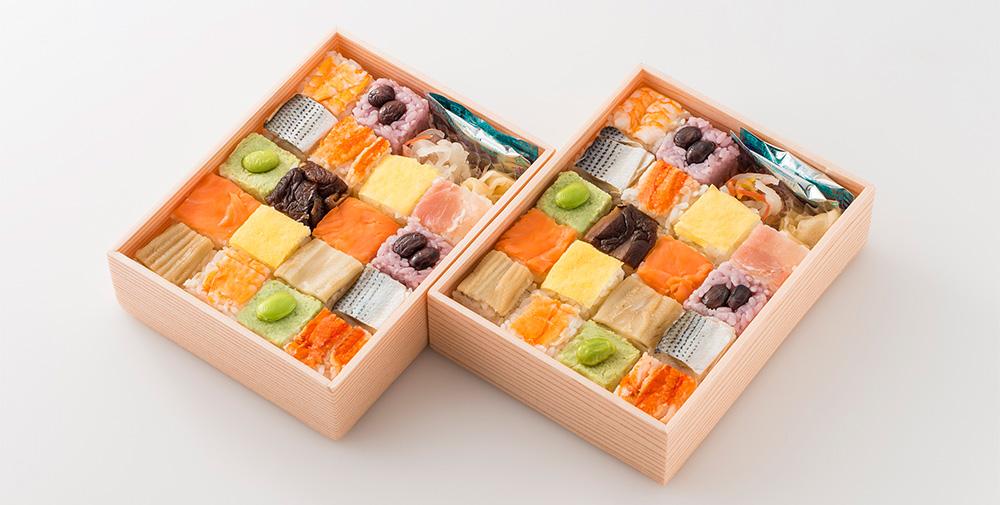 銀座割烹 里仙 寿司CUBE(2折セット) 03776 1セット(1折:18個入×2)