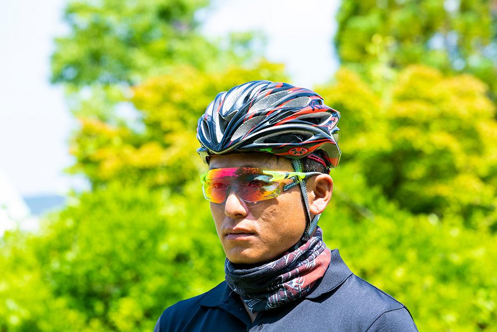 ジゴスペック 鼻でかけない偏光サングラス エアフライ 自転車用調光サングラス