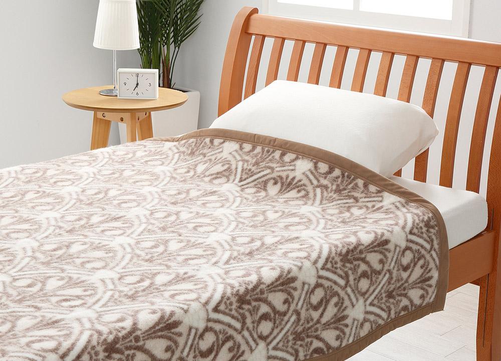 西川 日本製 ウール毛布