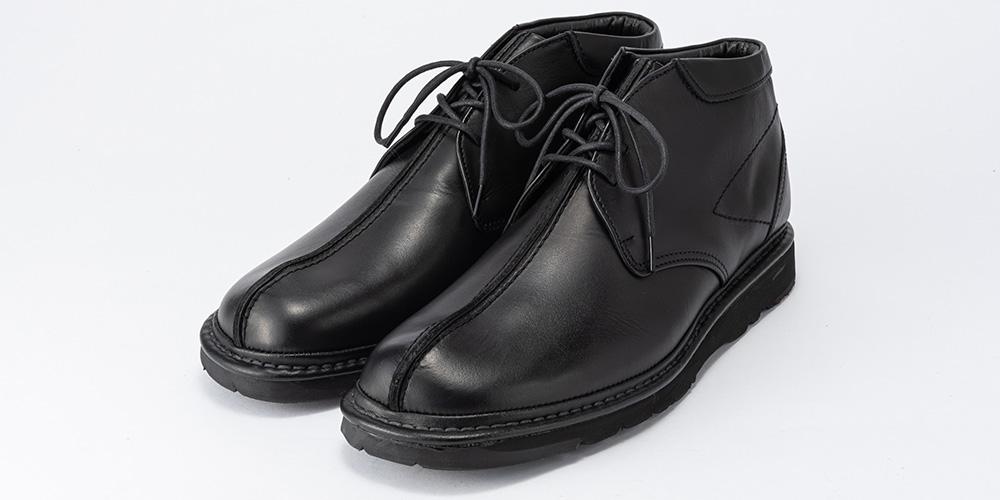 金谷製靴 ニコル 日本製 ソフト牛革 センターラインチャッカブーツ