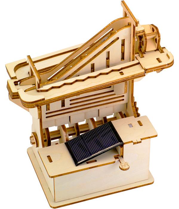 そろはむ 遊べる木製パズル マーブルマシン かいだん M-0100