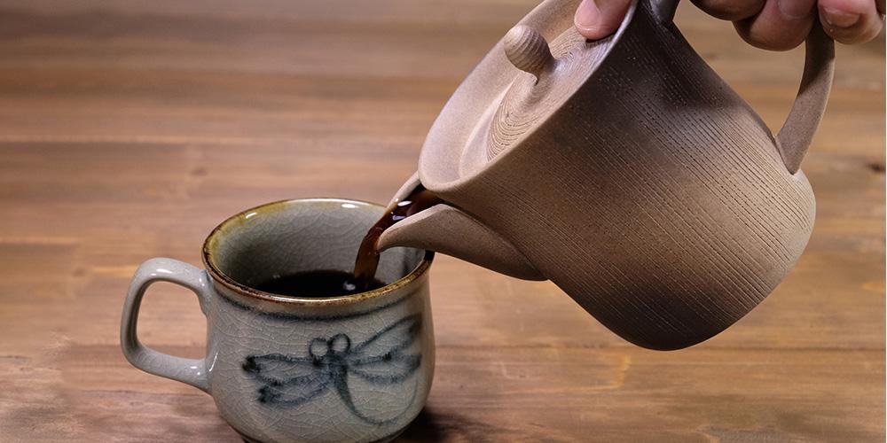 一心窯 焼締コーヒー急須 ソロ
