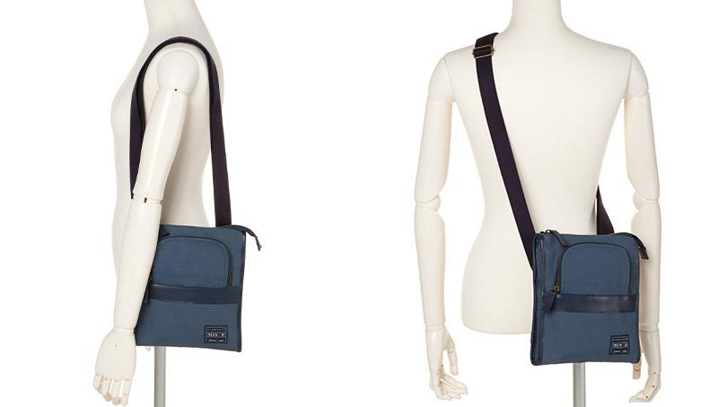 カーム マインド 6号帆布の縦型お散歩ショルダーバッグ