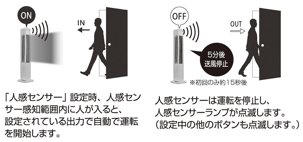 丸隆 トイレ用人感消臭タワーファン
