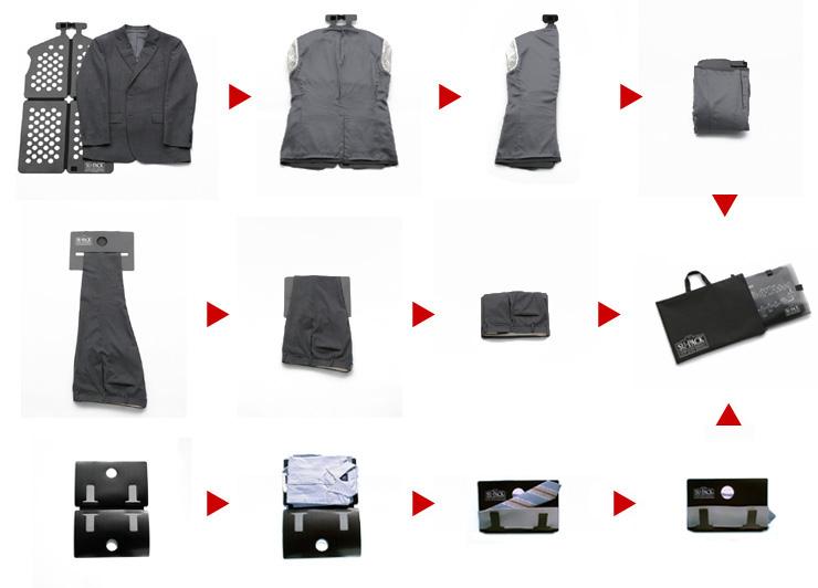 77c28d8fa52174 シャツ2枚の場合、襟向きを逆に合わせて上に乗せます。シャツ&ネクタイホルダーを折りたたみ、ネクタイ挟み込みスジ軽減クッションとシャツ&ネクタイホルダーの問に  ...
