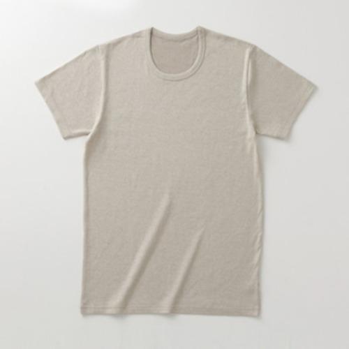 加茂繊維 BSファイン 着る岩盤浴 メンズ半袖丸首シャツ