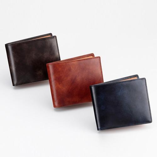 グレンフィールド スノビスト ミュージアムカーフ二つ折り財布