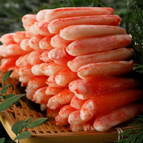 本ズワイガニ脚むき身 Lサイズ ボイル 冷凍 1セット(1.2kg:300g×4パック)