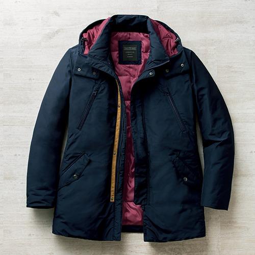フレンドリー すっきり見える暖か裏キルトハーフコート 957606