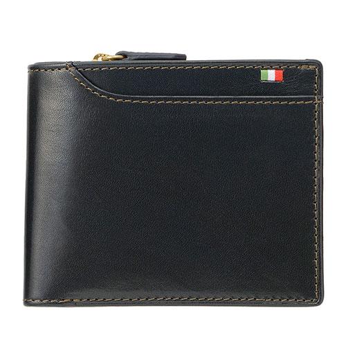ミラグロ タンポナートレザー 23ポケット 二つ折り財布