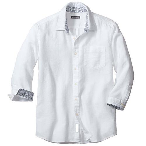 7分袖コットンリネンパナマシャツ