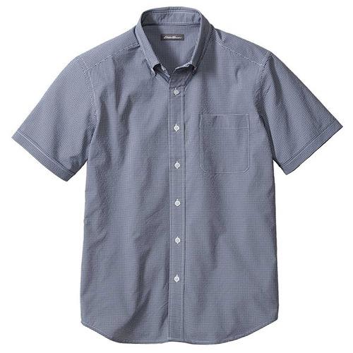 半袖ストレッチシアサッカーボタンダウンシャツ