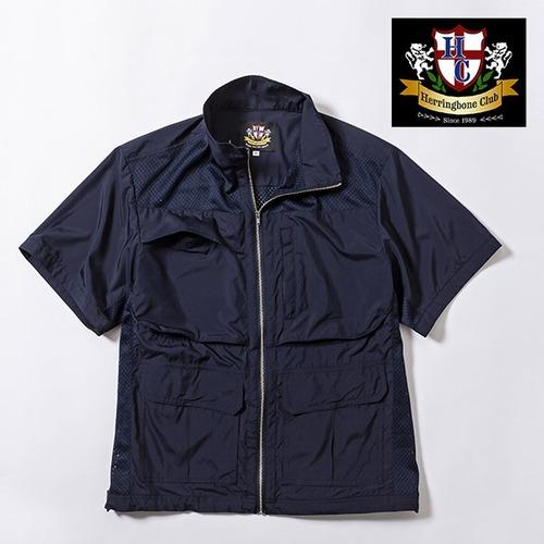 多機能メッシュ パッカブル半袖シャツジャケット