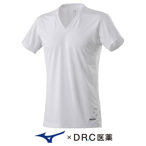 ハイドロ銀チタン Vネック半袖シャツ
