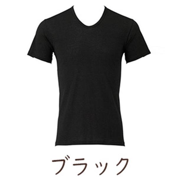 BSファイン メンズスタンダードU首半袖シャツ