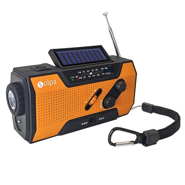 クマザキエイム ソルパ 手回し ソーラー蓄電ラジオ チャージオ SL-090