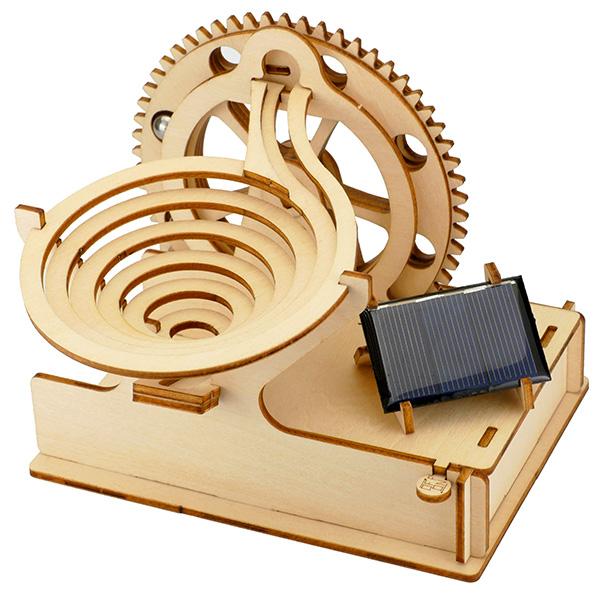 そろはむ 遊べる木製パズル マーブルマシン らせん M-0099