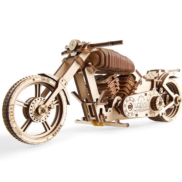 組み立て遊べる木製キット バイク