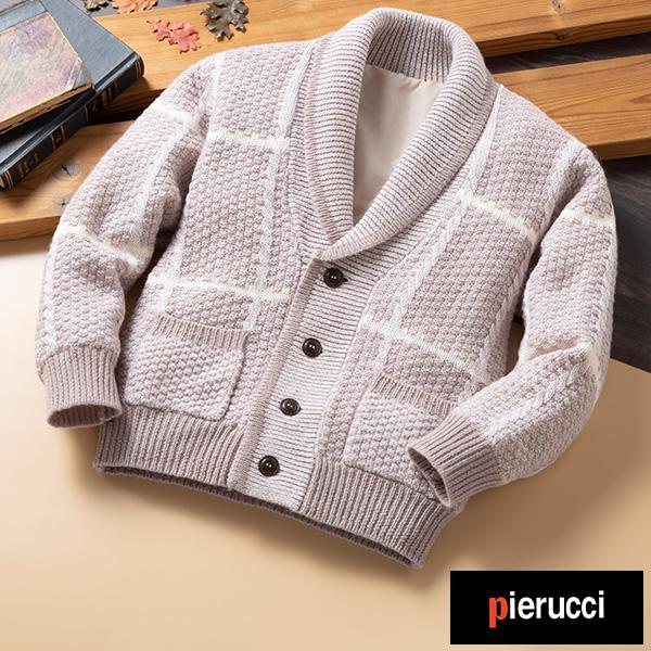 彩香 ピエルッチ オーストラリア羊毛使用 くつろぎカーディガン