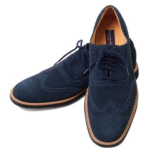 金谷製靴 カネカ 超撥水スエードカジュアルウイングチップ 4E 2233