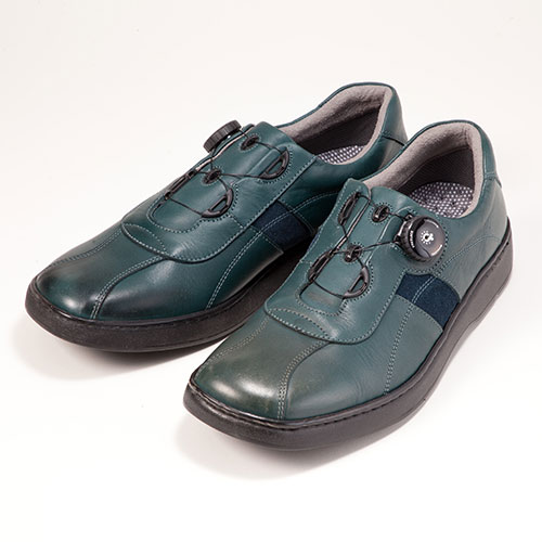 金谷製靴 カネカ 日本製 ソフト牛革ダイヤル式ウォーキングシューズ 4E 339
