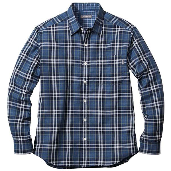 長袖ダブルクロスパターンシャツ