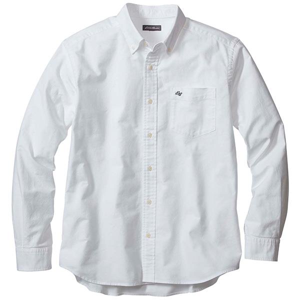 長袖ウォッシュドオックスフォードボタンダウンシャツ