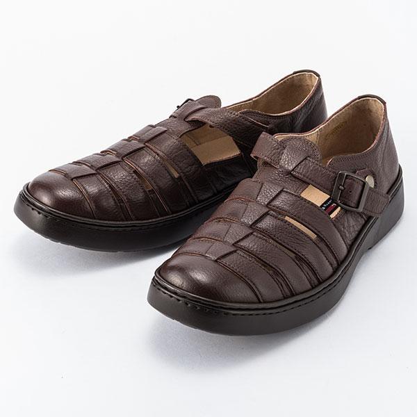 金谷製靴 カネカ 日本製 ソフト牛革 シボ仕様 サンダルシューズ 4E 190